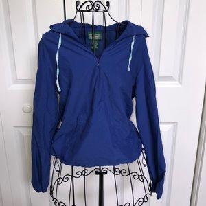 L.L. Bean Women's XS Royal Blue Windbreaker Hoodie